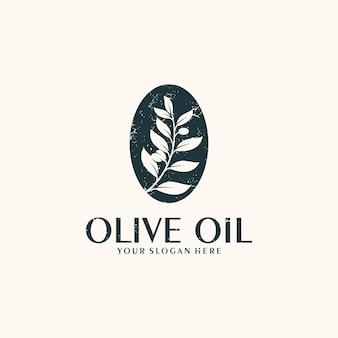 Olio d'oliva, vintage, ispirazione per il design del logo