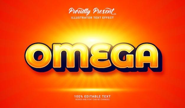 Effetto stile testo omega. effetto di testo modificabile