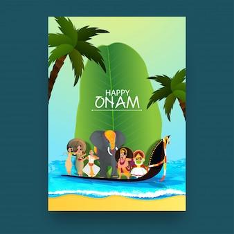Onam festival celebrazione concept.