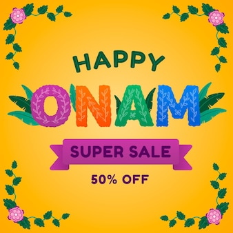Banner di vendita onam