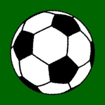 Un grande pallone da calcio su sfondo verde.