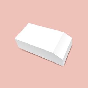 Una scatola smussata mock up