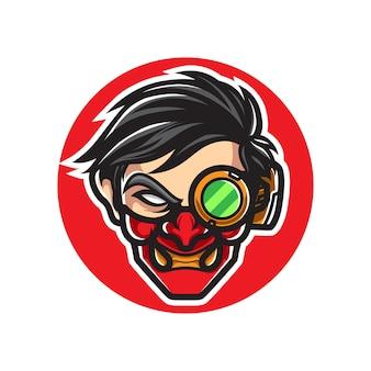 Oni cyborg uomo sport logo