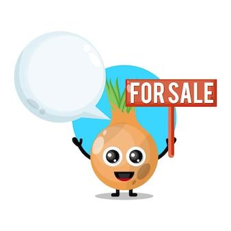 Cipolla in vendita simpatico personaggio mascotte