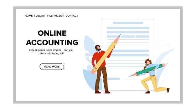 Rapporto finanziario internet di contabilità in linea