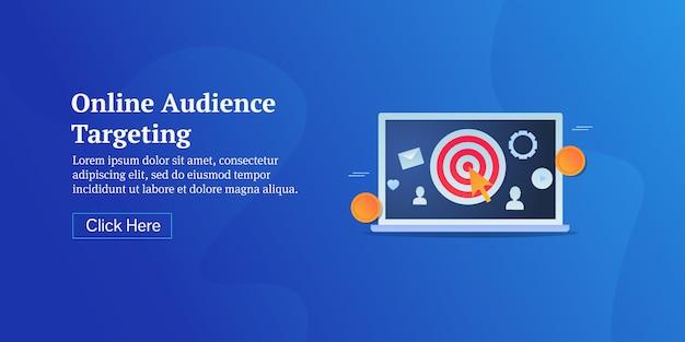 Banner concettuale di targeting per pubblico online
