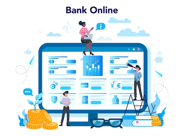 Concetto di banking online