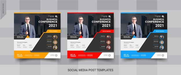 Modelli di post sui social media di instagram di affari online