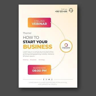 Modello di volantino webinar business online