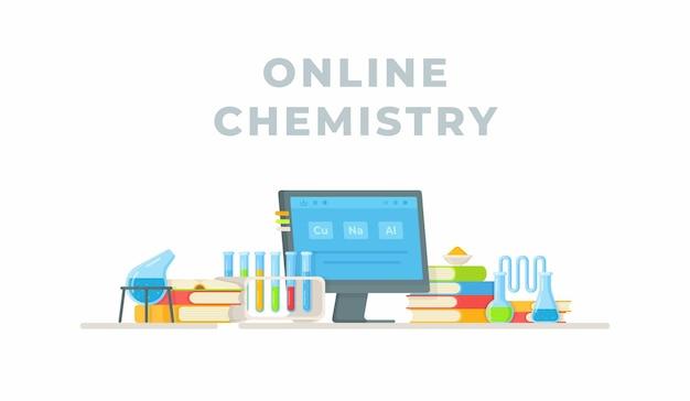 Illustrazione della lezione di chimica online