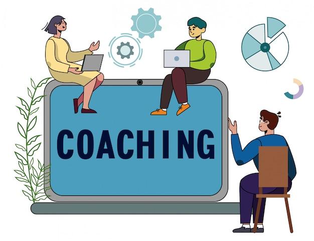 Servizio di coaching online per sviluppo, istruzione