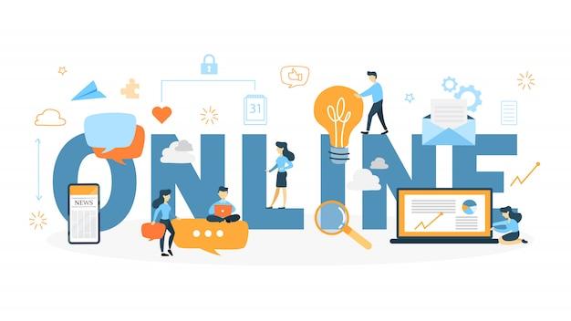 Illustrazione di concetto online.