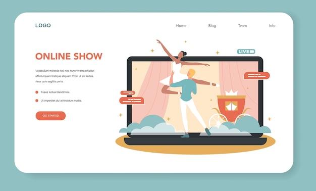 Banner web concerto online o illustrazione della pagina di destinazione