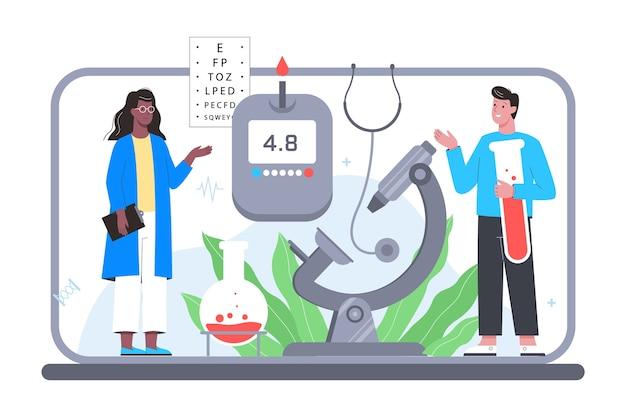 Consultazione in linea con il medico. piattaforma di trattamento medico a distanza per dispositivi diversi. servizio mobile.