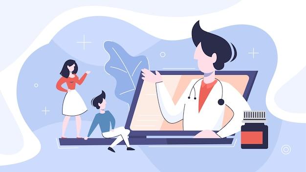 Consultazione in linea con il medico. cure mediche a distanza