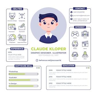 Modello di curriculum vitae online