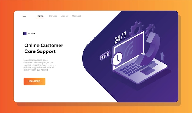 Pagina di destinazione dell'assistenza clienti online 247