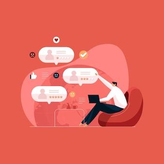 Sondaggio clienti online valutazione e feedback delle recensioni dei clienti esperienza e fedeltà degli utenti finali