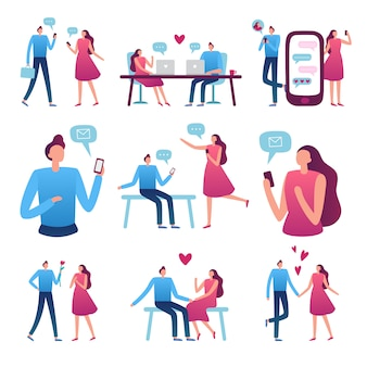 Coppia di incontri online. incontro romantico tra uomo e donna, chat di incontri su internet perfetta e servizio di appuntamento al buio