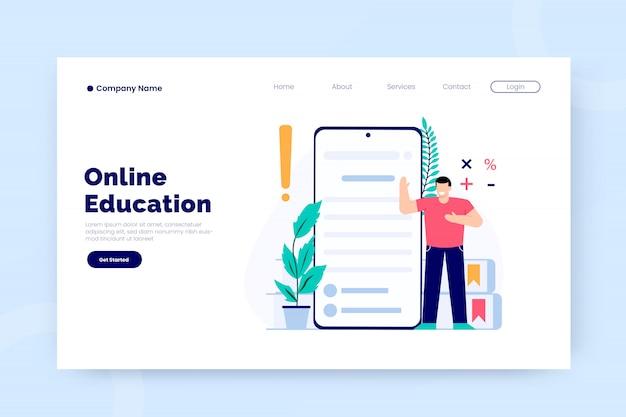 Modello di pagina di destinazione per l'istruzione online