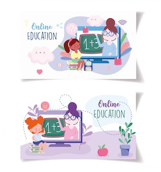 Formazione online, zaino e libri per insegnanti e studenti, sito web e corsi di formazione mobili