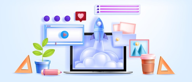 Formazione online, videoconferenza, webinar di apprendimento, tutorial con schermo del laptop