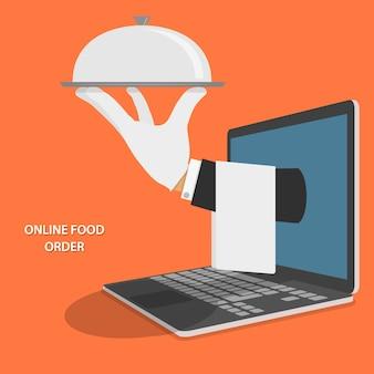 Illustrazione di consegna cibo online.