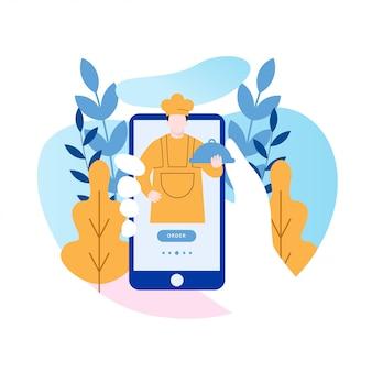 Progettazione di app per dispositivi mobili di ordine alimentare online