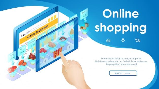 Shopping online di prodotti alimentari.