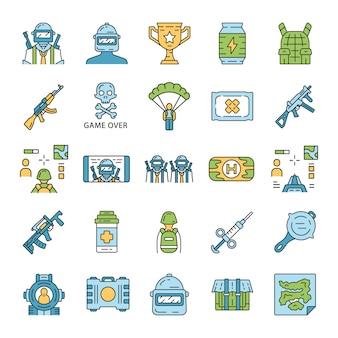 Set di icone di inventario del gioco online