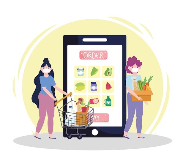 Ordinazione di generi alimentari online