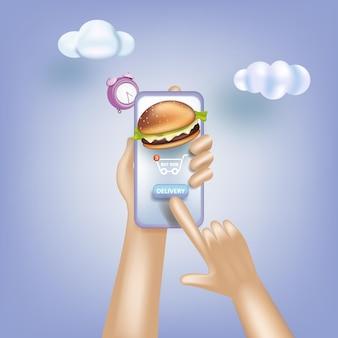 Servizio di consegna di generi alimentari online ordinazione online di e-commerce di consegna di generi alimentari