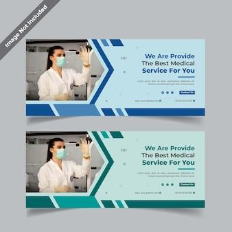 Modello di progettazione banner sanitario online