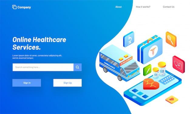 Piattaforma di servizi di consulenza sanitaria online.