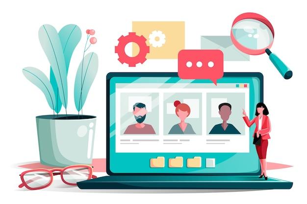 Colloquio di lavoro online