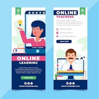 Disegni di banner di apprendimento online