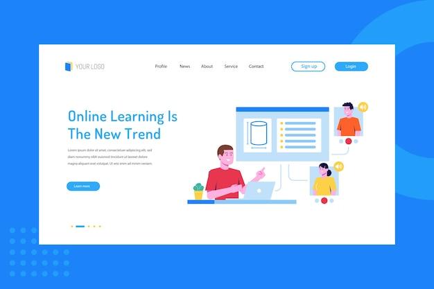 L'apprendimento online è la nuova tendenza sulla pagina di destinazione