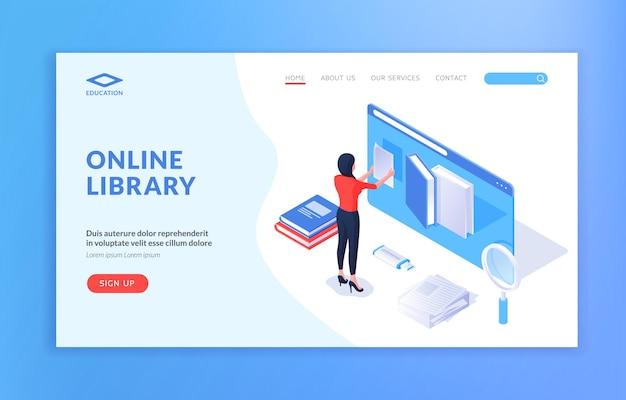 Sito web della biblioteca online