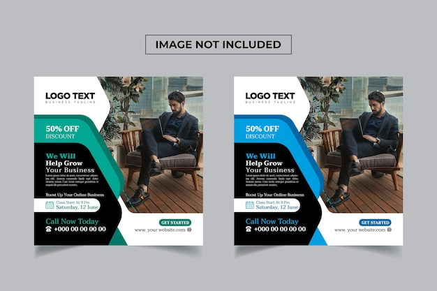Corsi di marketing online banner social media design