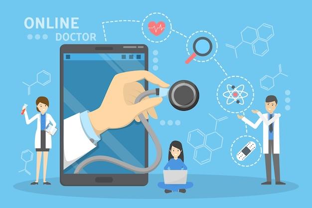 Concetto di consultazione medica online. idea di digitale