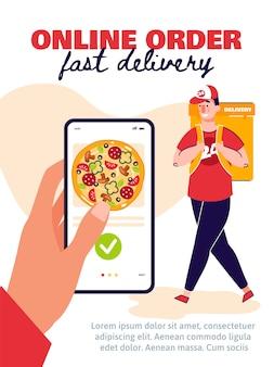 Progettazione di pagine di onboarding mobile per ordini online e consegna rapida per l'applicazione del servizio di consegna