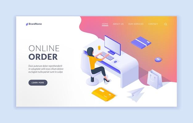 Modello di pagina di destinazione dell'ordine online
