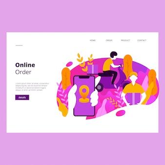 Modello di banner web ordine online