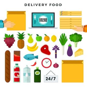 Ordinazione online e consegna di cibo