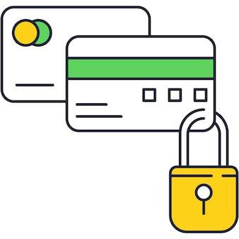 Icona piana di vettore del codice di sicurezza di pagamento online