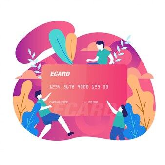 Illustrazione di vettore di pagamento online