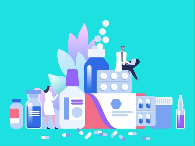 Farmacia online o concetto di assistenza sanitaria in farmacia.