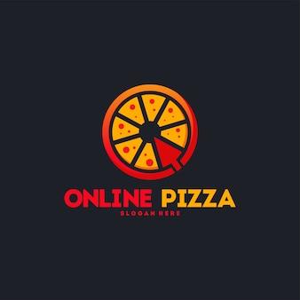 Logo della pizza online
