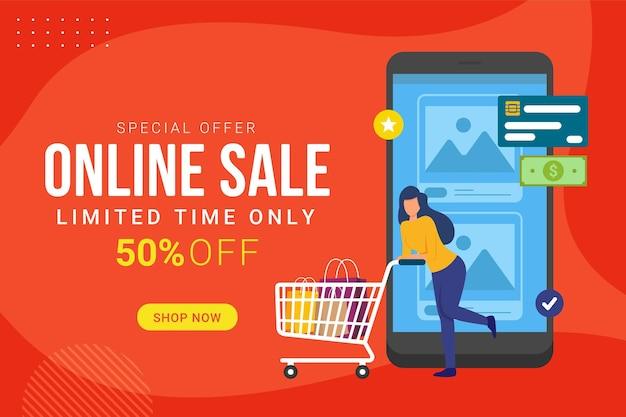 Promozione sconto banner vendita online