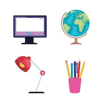 Set di materiale scolastico online